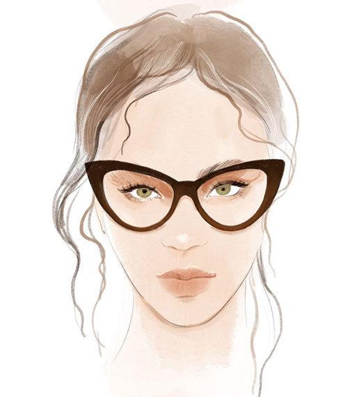 briller til omvendt dråbeformet ansigt